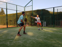 Padel tennis volley rückhand